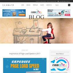 Importance of Page Load Speed in 2017