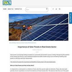 Importance of Solar Panels in Real Estate Sector