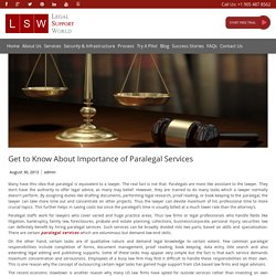 Get to Know About Importance of Paralegal Services