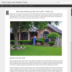 What is the importance of lawn care in perth – Check it out
