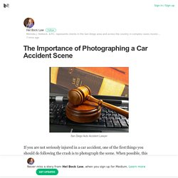 The Importance of Photographing a Car Accident Scene