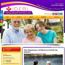 The Importance of Physical Activity for Seniors