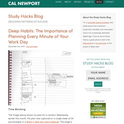 Deep Habits: The Importance of Planning Every Minute of Your Work Day