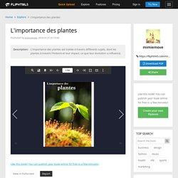 L'importance des plantes Pages 1 - 50 - Text Version