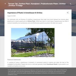 Importance of Plastic in Greenhouse Or Drivhus