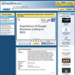 Importance of Google Business Listing in SEO.