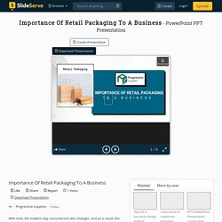 Importance Of Retail Packaging To A Business PowerPoint Presentation - ID:10340793
