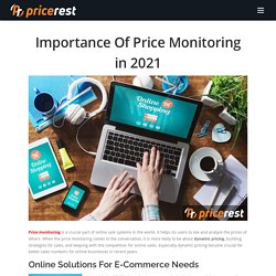 Importance Of Price Monitoring in 2021