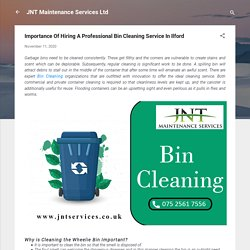 Importance Of Hiring A Professional Bin Cleaning Service In Ilford
