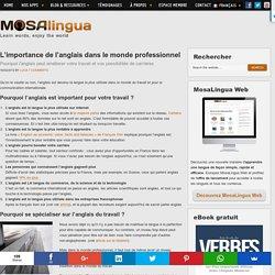 L'importance de l'anglais dans le monde professionnel