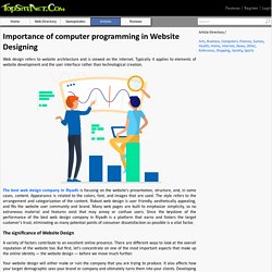 Importance of computer programming in Website Designing
