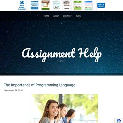 The Importance of Programming Language