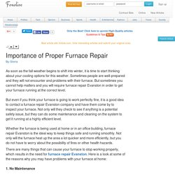 Importance of Proper Furnace Repair