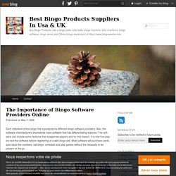 The Importance of Bingo Software Providers Online - Best Bingo Products Suppliers In Usa & UK