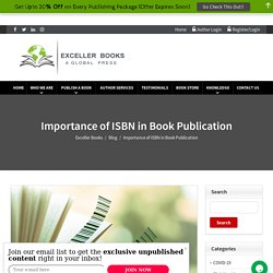 Importance of ISBN in Book Publication - Exceller Books