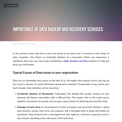 Importance of Data Backup and Recovery Services - Data recovery