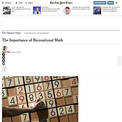 The Importance of Recreational Math