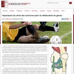 Importance du choix des exercices pour la rééducation du genou