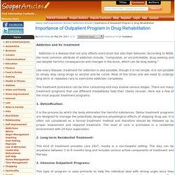 Importance of Outpatient Program in Drug Rehabilitation