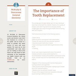 The Importance of Tooth Replacement