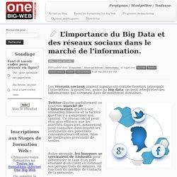 L'importance du Big Data et des réseaux sociaux dans le marché de l'information.