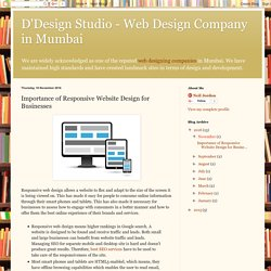 Importance of Responsive Website Design for Businesses