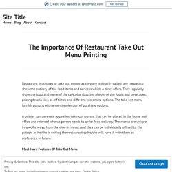 Take Out Menu Printing Company in Dallas and Fort Worth