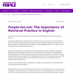 Forget-me-not: The Importance of Retrieval Practice in English