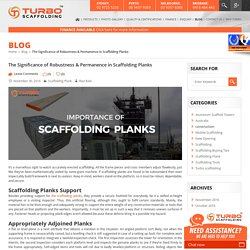 Importance of Scaffolding Planks