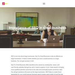 Importance of SEO in small business
