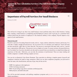 Importance of Payroll Services For Small Business