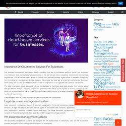 Importance Of Cloud-based Services For Businesses