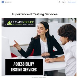 Importance of Testing Services — Teletype