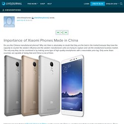 Importance of Xiaomi Phones Made in China: shenzhenphones