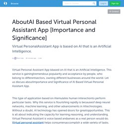 AboutAI Based Virtual Personal Assistant App [Importance and Significance]