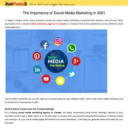 The Importance of Social Media Marketing in 2021