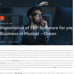 Importance of ERP Software for your Business in Muscat - Oman