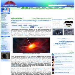L'importance des trous noirs en tant que source de chaleur du cosmos