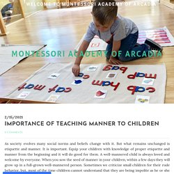 Importance of Teaching Manner to Children
