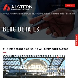 The Importance of Using An ACMV Contractor - Alstern Technologies