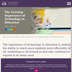 The Growing Importance of Technology in Education