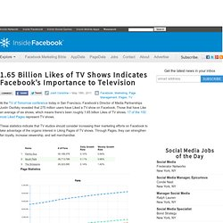 1.65 Billion Likes of TV Shows Indicates Facebook's Importance to Television