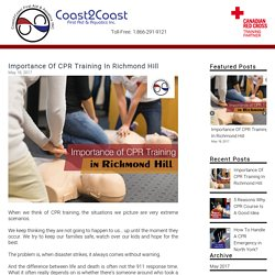 Importance Of CPR Training In Richmond Hill