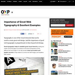 Importance of Great Web Typography & Excellent Examples | Onextr