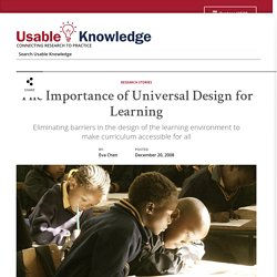 The Importance of Universal Design for Learning