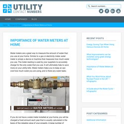 Importance of Water Meters at Home