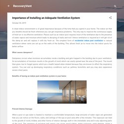 Importance of Installing an Adequate Ventilation System