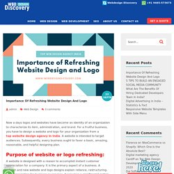 Importance Of Refreshing Website Design And Logo - Webdesigndiscovery