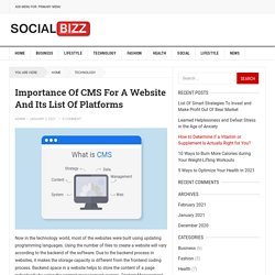 Importance Of CMS For A Website And Its List Of Platforms
