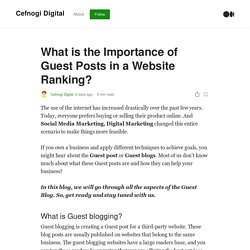 What is the Importance of Guest Posts in a Website Ranking?